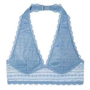 Victoria's Secret Intimates & Sleepwear - 3/24 VS Long Line Crop Plunge Halter Lace Bralette